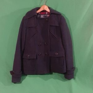 American eagle outfitters S navy pea coat